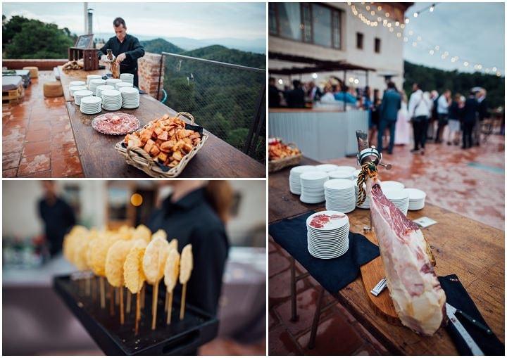 Catering en la boda elegante en Barcelona Rustic Chic de Barbara y Bert